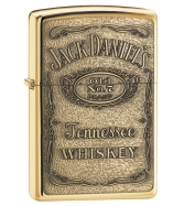 Jack Daniel's Label Brass Emblem Pocket Lighter